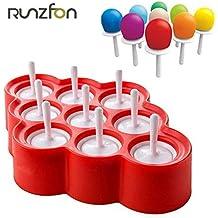 Naisidier 9pcs Mini Moldes de Helado de Silicona Moldes de Popsicle Hielo Pop/Lolly/