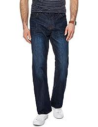 39912f784b4fb Red Herring Men Dark Blue Vintage Wash Bootcut Jeans