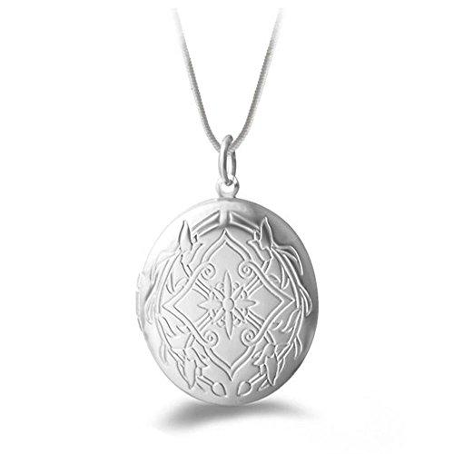 Kosaira Photo Frame Anhänger Halskette Fashion Silberne Schlangenkette Halskette für Frauen Geschenk Party & Abschlussball Perfekte Zubehör Set