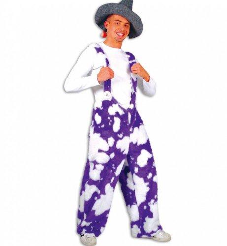 Kostüm Kuhhose Plüsch lila - Größe XXL -