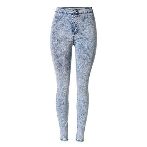 Frauen Slim Fit Bleistift Hose Hohe Taille Stretch Jeans Tie-Dye Hosen,C1-26 (Tie-dye-stretch-denim)