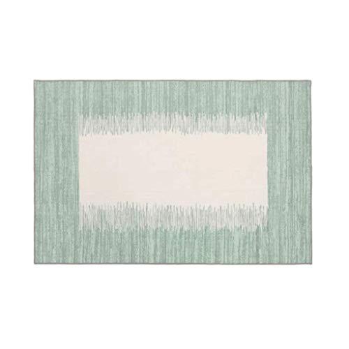 Teppiche JXLBB Nordic Ethnic Carpet Gold Room Marokkanische Geometrie Waschbar Dicke 10mm Wohnzimmer Schlafzimmer Grün Rechteckig Beige Polyester 1.4x2m