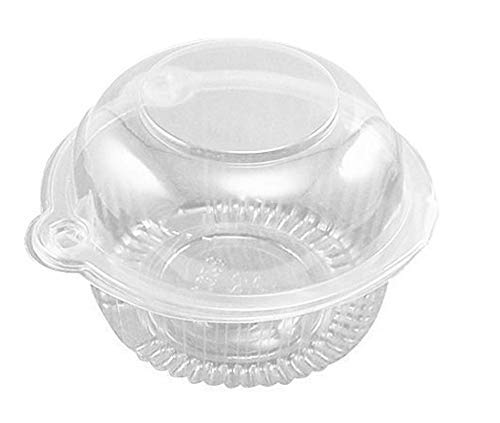 hewnda 50-teilig, Kunststoff Single einzelnen Cupcake Muffin Dome Halterungen Fällen Tassen Pods (Zum Kunststoff-tassen Verkauf)