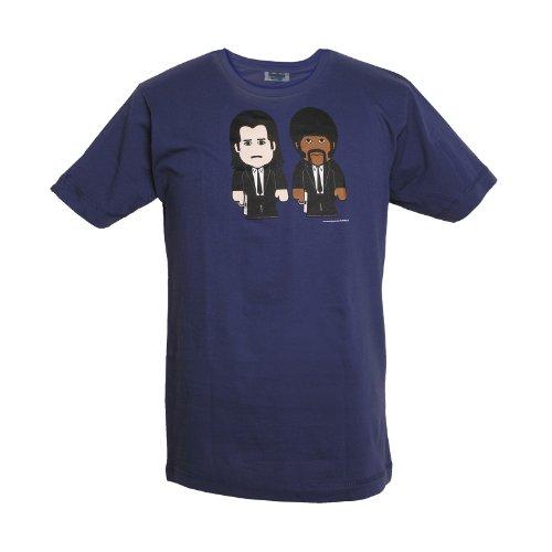 Hitmen Marken T-Shirt von Toonstar Mens Shirt Gangster Cartoon , navy Blau