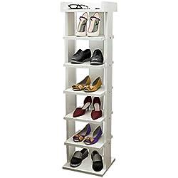 Casier à Chaussures en Bois MDF Pantoufles étagères de Rangement étagères Organisateur étagère pour Plantes 30cm de Large Blanc pour Couloir/Salon/Chambre/Couloir