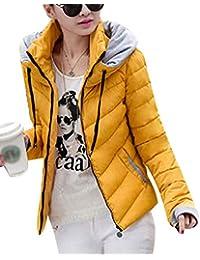 Kasen Cappuccio con Zip Giacca Cappotto Sottile Invernale Cappotti da Donna ba97c3933d6