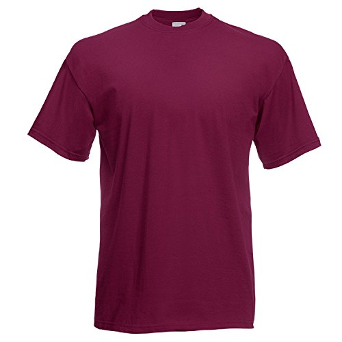 Fruite of the Loom Valueweight T-Shirt, vers. Farben Burgund