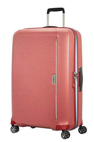 Samsonite Mixmesh Bagaglio a Mano, Spinner L (75cm-93L), Rosso (Red/Pacific Blue)