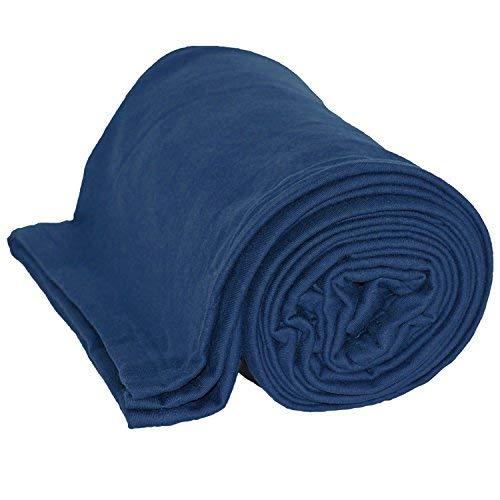 Jersey Baumwolle Decke [127x 152,4cm weicher Sweatshirt Stoff] | Sport, Home & Reisen, baumwolle, navy, 50