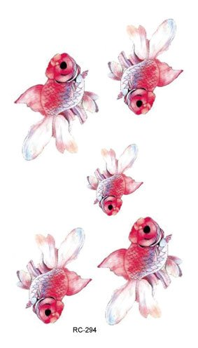 Temporaire tatoo poisson for Prix poisson rouge 15 cm