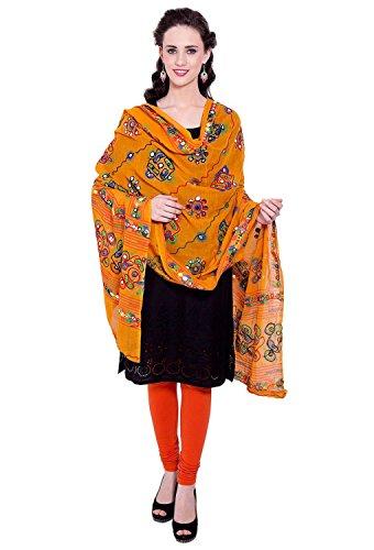 Vastraa Fusion Women's Cotton Dupatta (VASTRAATS0075, Orange)