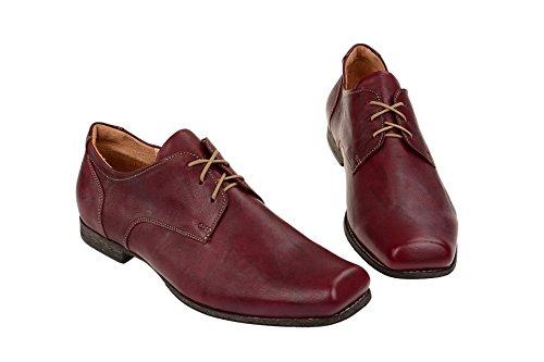 Think!  0-80690-72, Chaussures à lacets et coupe classique homme Rouge