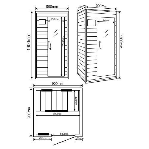 Home Deluxe – Infrarotkabine – Redsun S