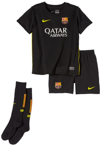 Nike Jungen Traininganzug FC Barcelona Third Kit Stadium, Black/Yellow, XL (Nike Herren Fußball-kit)