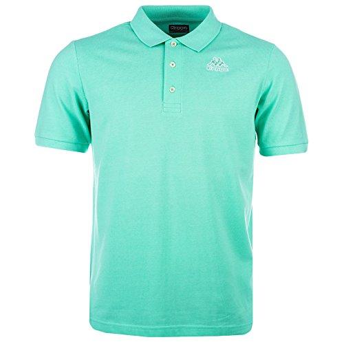 Kappa Omni, Poloshirt mit Kurzarm, Grün (Kragen Herren Shirt Xxl)