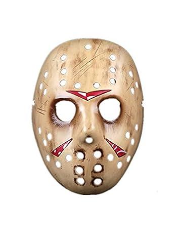 maikun Halloween Kostüme Freddy vs. Jason Golden Kunstharz Face Maske
