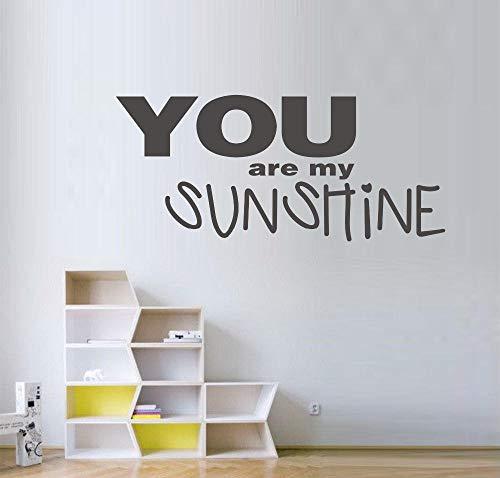 Spruch Vinyl Wandkunst Aufkleber/Fensteraufkleber Du Bist Mein Sonnenschein 60X30Cm - Sonnenschein Spa-bad