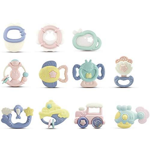 10 sonagli per bambini, neonati dentizione giocattoli afferrare giocattoli palla agitazione campana sonaglio giocattoli set by mieoson