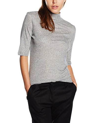 filippa-k-damen-top-mid-sleeve-roller-grau-grey-grey-mel-40