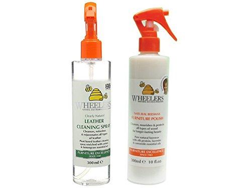 wheelers-natural-cera-de-abejas-polaco-2-unidades-muebles-polaco-piel-de-limpieza-spray
