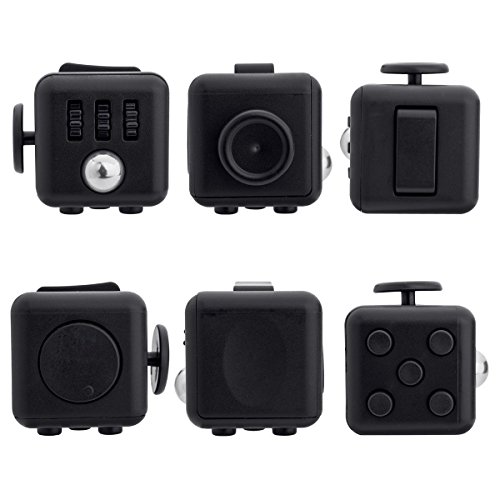 ENJOY JuYi Fidget Cube Relieves Stress And Anxiety for Children and Adults (Black)