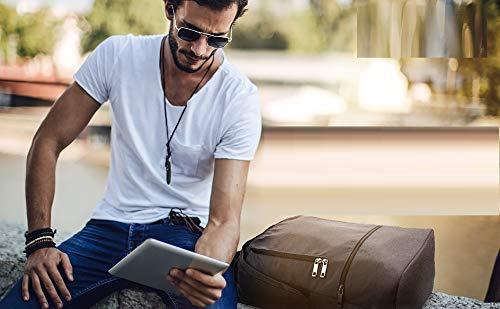 REYLEO Zaino per PC, Laptop Portatile Backpack con Porta USB Casual Impermeabile Unisex per La Scuola e Il Lavoro Fino a 26L (Grigio) - 9