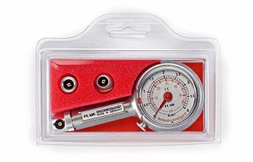 Preisvergleich Produktbild Reifendruckprüfer Reifendruckmesser 0-4 bar, mit Ablass, in Klappbox
