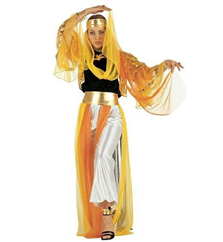 WIDMANN Costume da Odalisca per Adulti, Oro/Nero, M, 37592