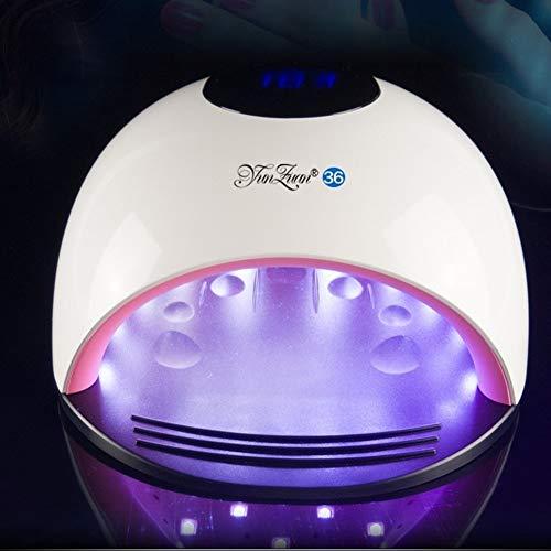 Lcd-eis (80 Watt LED Lampe Nagel Trockner 36 LEDs UV EIS Lampe zum Trocknen Gelpoliermittel 10/30/60/120 s Timer Auto Sensor Maniküre Werkzeuge MJD618)