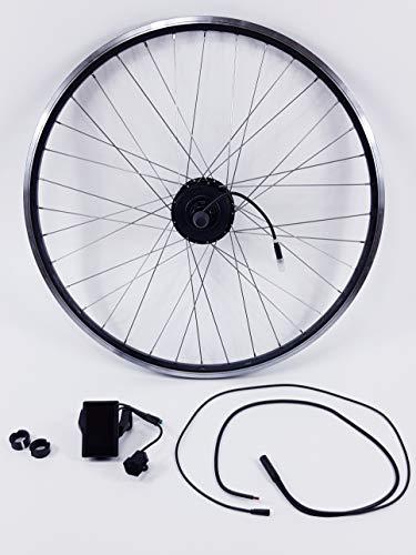 TZIPower Umbausatz 20 Zoll 36V 250 Watt Farbdisplay Kit Hinterrad Heck 250W E-Bike Controller PAS und Bremssenoren im Motor verbaut (8-10 Fach Kasette)