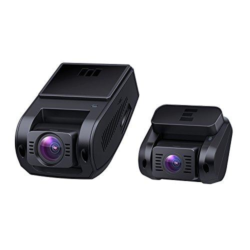 AUKEY Caméra Embarquée 1080P Double Caméra Voiture Avant Et Arrière Grand Angle 170°, Supercondensateur, WDR Vision Nocturne Dashcam avec Capteur-G, Enregistrement en Boucle et 2 Ports Chargeur de Voiture