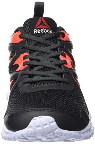 Reebok Run Supreme 2.0, Scarpe da Corsa Uomo Nero / Rosso / Grigio / Bianco (Coal/Atomic Red/Ash Grey/White)