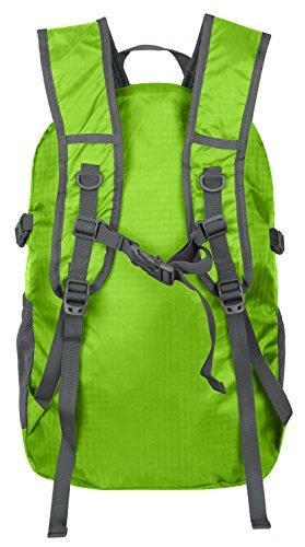 Imagen de ecocity ultra ligero 30l ripstop impermeable doblable excursionismo daypacks backpack  para viaje camping,excursion,trekking,montaña y escalada con sistema de hidratacion, verde alternativa