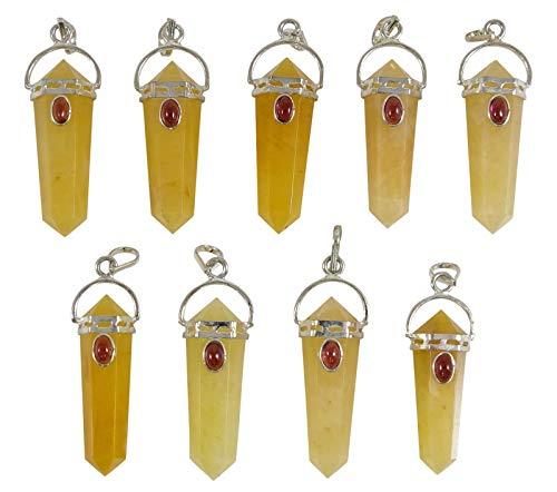Harmonize Calcita Naranja Piedra 6 echo a un Lado de la Varita Lapiz Espiritual Colgante Amuleto Reiki curacion de Cristal