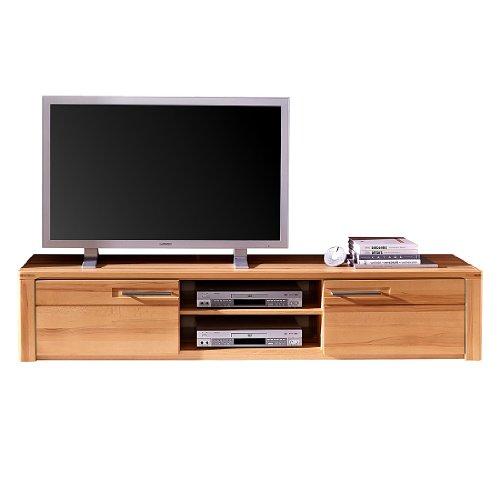 Stella Trading Buche Geölt Kernbuche Massiv Wohnzimmer Stauraumelement TV-Element Lowboard Kommode, Holz, Braun, 45 x 190 x 36 cm