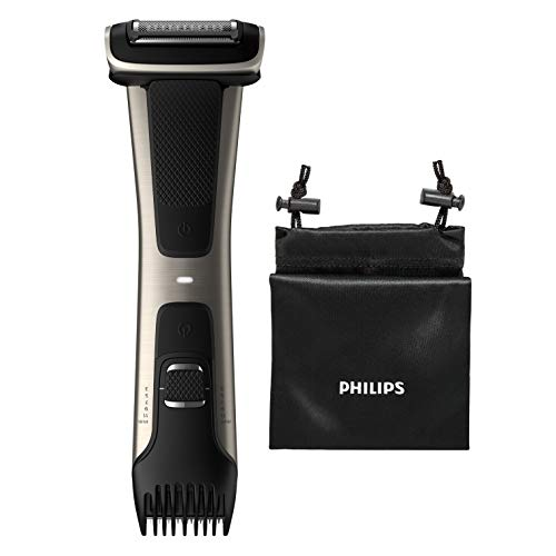 Philips Serie 7000 BG7025/15 - Afeitadora corporal con cabezal de recorte y de afeitado, 80 minutos de uso/1 hora de carga, apta para la ducha, negro