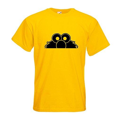 KIWISTAR - Elmo - Halber Elmo - Ernie - Bert T-Shirt in 15 verschiedenen Farben - Herren Funshirt bedruckt Design Sprüche Spruch Motive Oberteil Baumwolle Print Größe S M L XL XXL Gelb