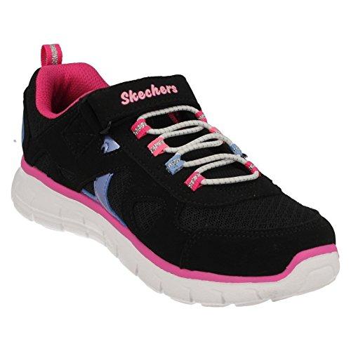 Basket, couleur Violet , marque SKECHERS, modèle Basket SKECHERS VIM - BRITE Violet noir/rose