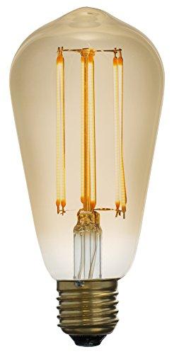 Led Zen LZS2041A Edison Ampoule décorative LED à filament Verre 4 W E27 Ambré
