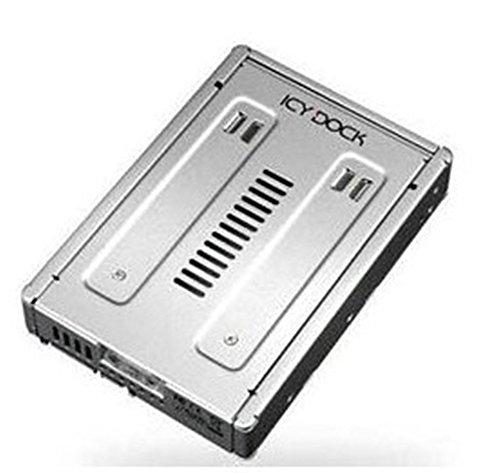 ICY DOCK EZConvert Pro MB982IP-1S-1-2,5 Zoll (6,4cm) zu 3,5 Zoll (8,9cm) SAS 12GBit SSD/HDD Konverter - Vollmetall