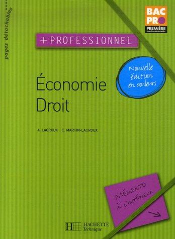 Economie, Droit : Première professionnelle