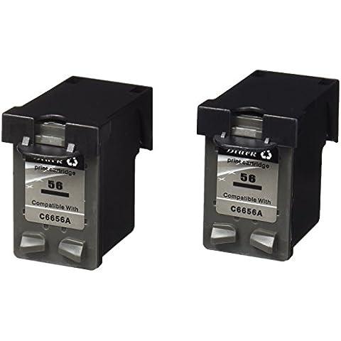 Prestige Cartridge 2 x HP 56 Cartuchos de tinta, negro