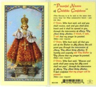 Preisvergleich Produktbild Infant of Prague Novena Prayer Holy Card (800-056) by William J. Hirten Co.,  Inc.