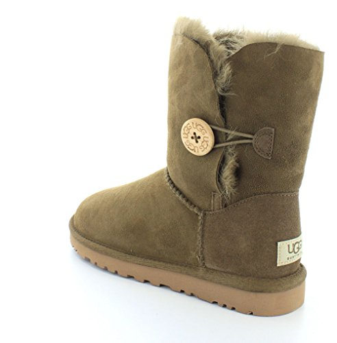 UGG Women's Bailey Button , Bottes femme Dry Leaf