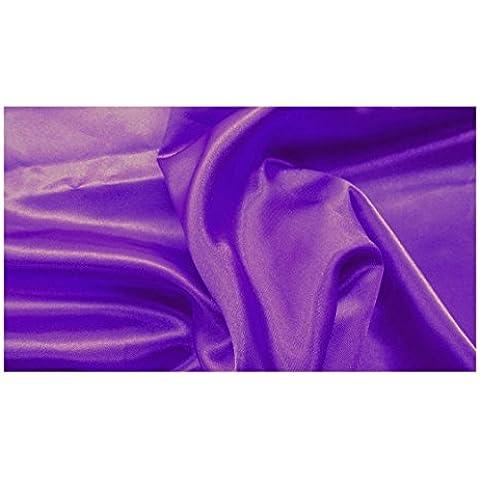 Fabrics de City púrpura difícil satén tela Satén plástico brillante policíclicos Metro, 3316