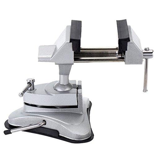 Laileya Pracical Schraubstock Vakuumsaugschalen Tabelle Vise universell einstellbar Aluminium-Legierung Tisch Bank Schraube Reparatur-Werkzeuge