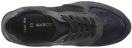 Marco Tozzi Cool Club 43201, Baskets Basses Fille Bleu (NAVY ANTIC COM 820)