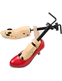 WinBuy Shoes Tree for Men Women Wooden Professional Adjustable 2-Way Shoe Holder Stretcher Shaper Tree (M, one Color)