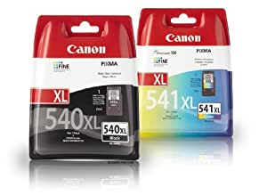 2 Cartouche d'encre pour Imprimante Canon Pixma MG4250 - Noir / Colour- Avec Puce