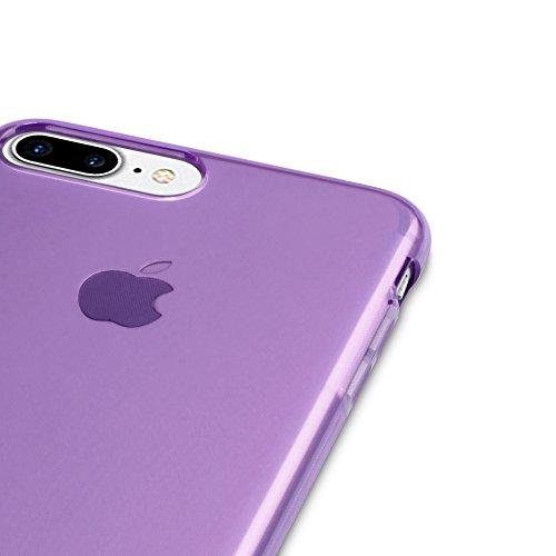 Coque iPhone 8 Plus / iPhone 7 Plus, Terrapin Étui Coque en Gel TPU pour iPhone 8 Plus Case - Clear Violet